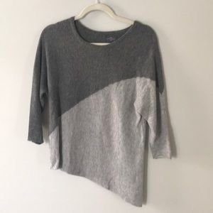 Grey Asymetrical Sweater